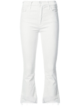 jeans cropped jeans cropped women spandex white cotton