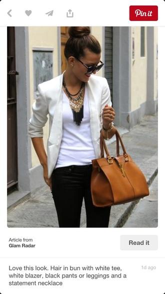coat blazer white modern day classic