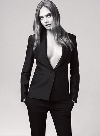 jacket blazer suit editorial cara delevingne
