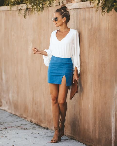 Maddy Denim Mini Skirt