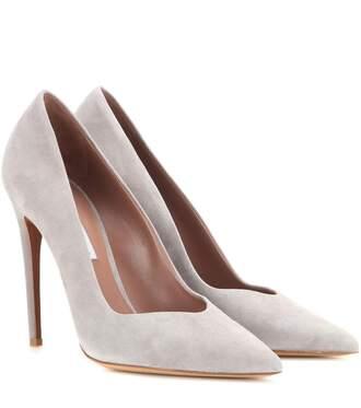 shoes pumps grey pumps grey grey shoes high heels suede shoes