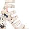 Laurence dacade - dana sandals - women - cotton/leather - 38, nude/neutrals, cotton/leather