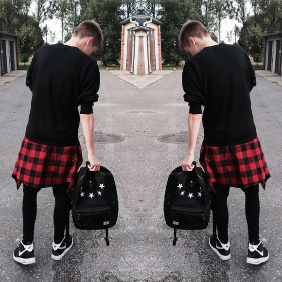 stars bag back to school backpack menswear flannel shirt