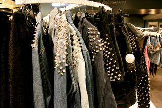 jacket spikes studs vintage swag spike spiked moto jacket studded jacket