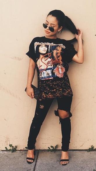 t-shirt summer cierra ramirez black t-shirt dress girly grunge