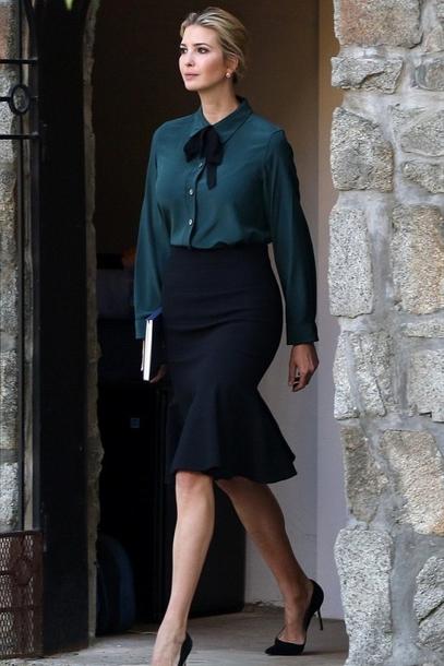 9c430dda08bbac shirt ivanka trump skirt blous blouse summer summer outfits heels high heels