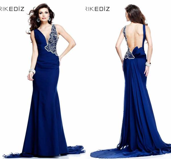 tarik ediz dress sheath column tulle backless dress backless prom dress long prom dress v neck prom dresses