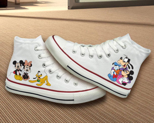 Shoes Converse Girl Disney Mickey Mouse Minnie Best Gifts Girlfriend Gift Birthday Girly Women