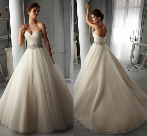 Dress: wedding dress, organza wedding dress, 2014, 2014 hot ...
