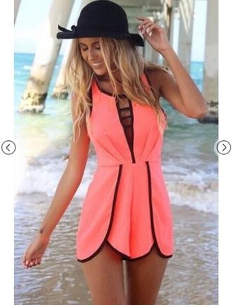 romper pink spring summer