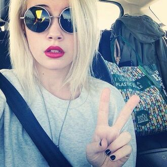 sunglasses glasses round black silver beatrice miller