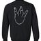 Westside hand sweatshirt back