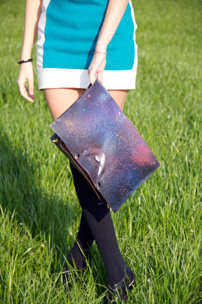 galaxy print bag
