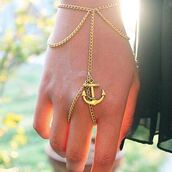 jewels,anchor,bracelets,ring,bronze,anchor bracelet,bracelet ring