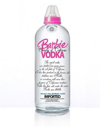 home accessory pink barbie barbie vodka summer holidays
