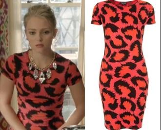 dress leopard print orange dress bodycon dress