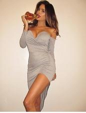 dress,off the shoulder dress,draped dress,maxi dress,fashion,trendy