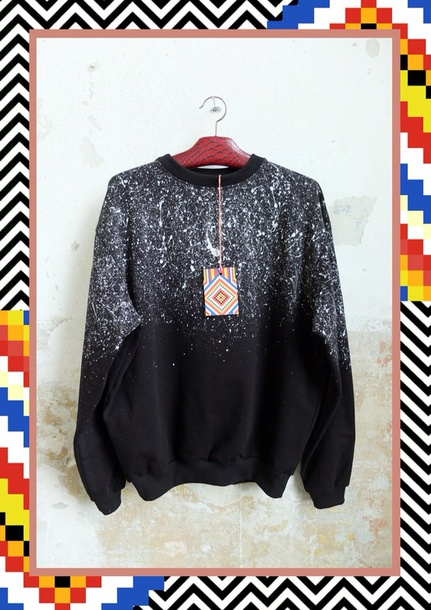 sweater jumper black white