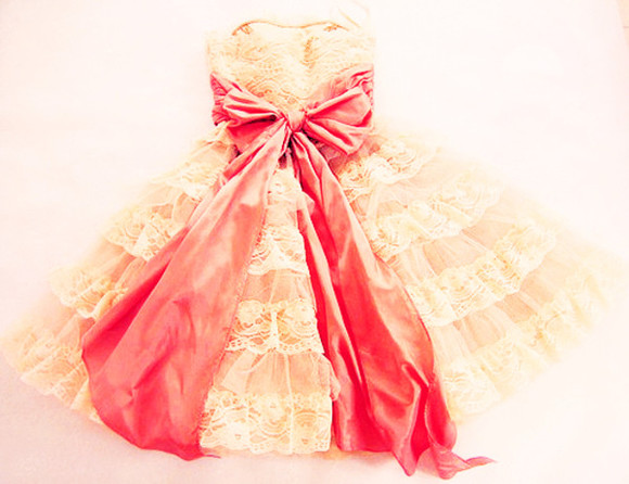 dress vintage vintage dress bow dress giant bow lace dress lace vintage pink lace dress tumblr hipster prom dress cute ariana grande taylor swift strapless dress acacia clark