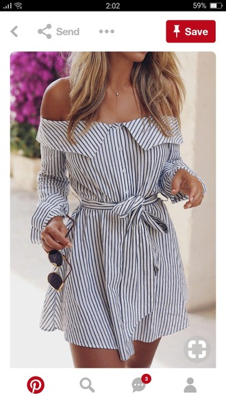 dress blue and white striped