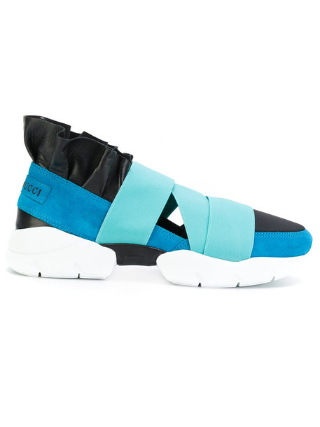 Emilio Pucci women sneakers leather blue shoes
