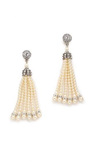 tassel pearl earrings jewels