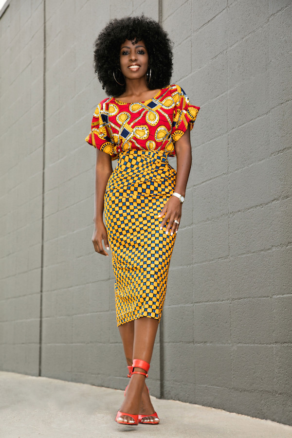 1000 Images About African Print 2 Piece Outfit On: Blogger, Pencil Skirt, Red Top, Two Piece Dress Set