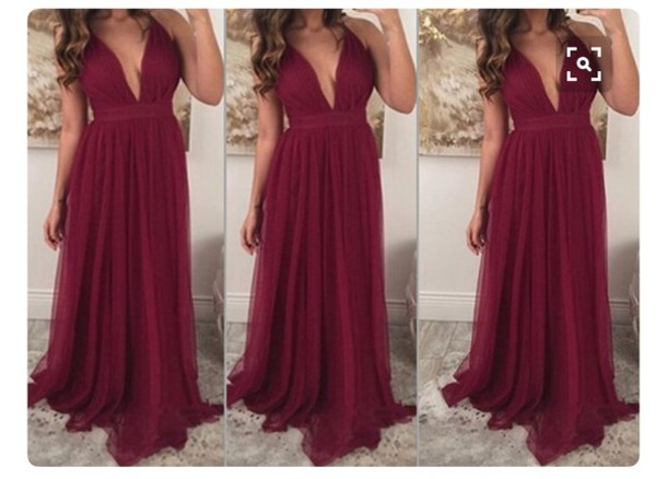 dress wine red burgundy maxi dress prom dress