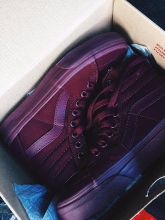 shoes vans burgundy sneakers