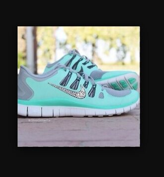 shoes nike running shoes mint green shoes sparkle swoosh