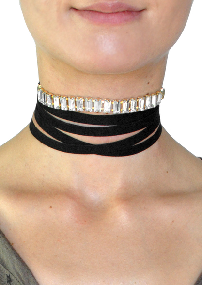 Sophie Crystal Wrap Choker Necklace