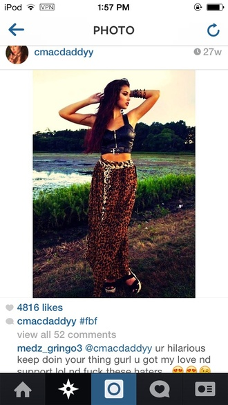 skirt maxi skirt leopard print high waisted pockets cmacdaddyy instagram jacket shirt belt crop tops pleather zip