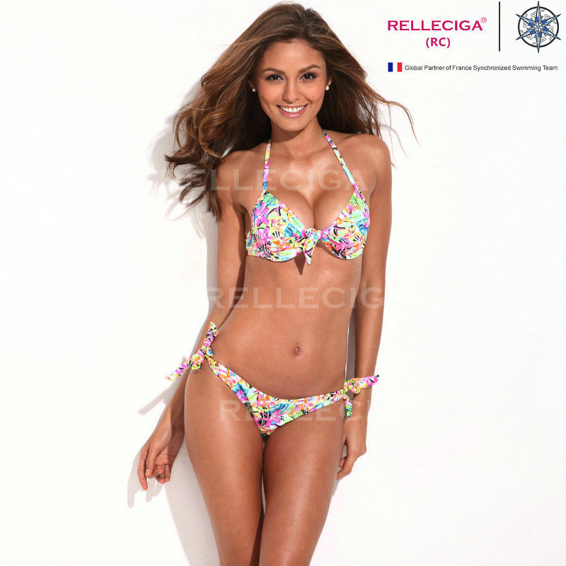 2014 RELLECIGA Women Swimsuit Push Up Bandage Bikini Set Swimming Woman Swimwear Floral Swimsuit Pushup Swimming Woman-in Bikinis Set from Apparel & Accessories on Aliexpress.com