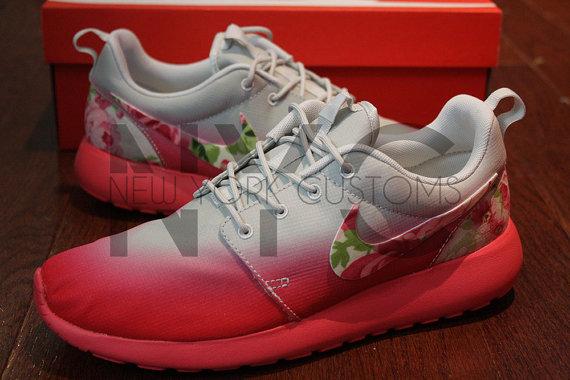 Nike Roshe Courir Géranium Rose Cheveux Gris Hombre