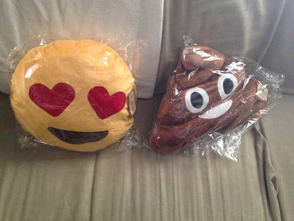 jewels emoji print pillow pillow