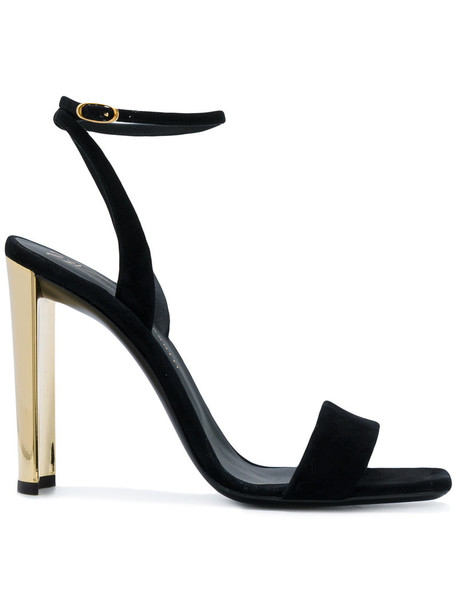 GIUSEPPE ZANOTTI DESIGN women sandals leather suede black shoes