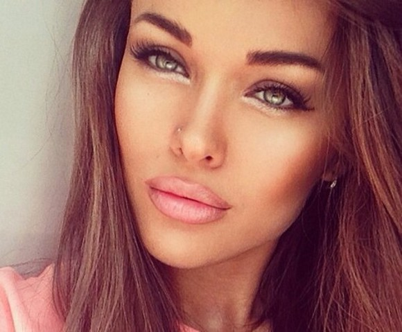 beauty make-up lipstick russian hazel brown pink,dress,prom,2014,love,full length,forever,hill,model,beautiful,heart,ball,dresses,sparkle,sequin