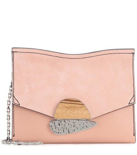 Proenza Schouler clutch suede pink bag