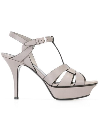 women classic sandals leather grey shoes
