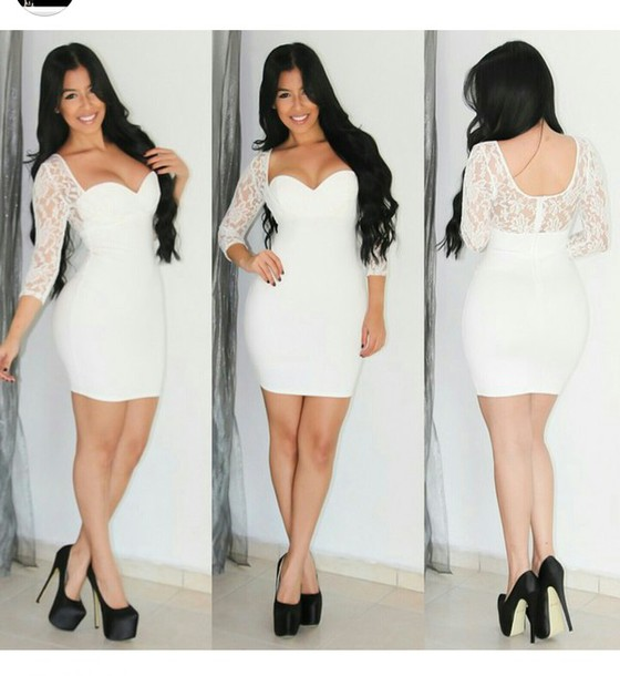 dress white dress lace dress short dress