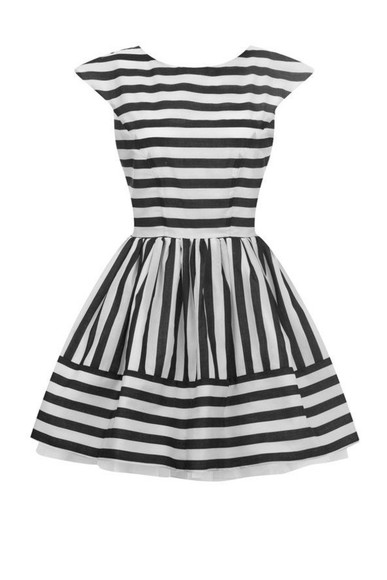 stripes striped cap sleeves
