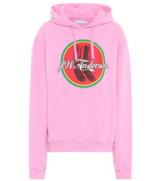 JW Anderson hoodie cotton pink sweater
