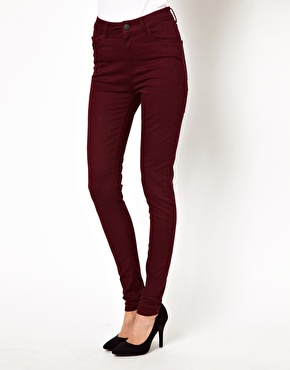 Just Female | Just Female Coloured High Waist Skinny Jeans at ASOS