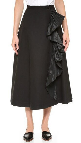 skirt a line skirt cotton black