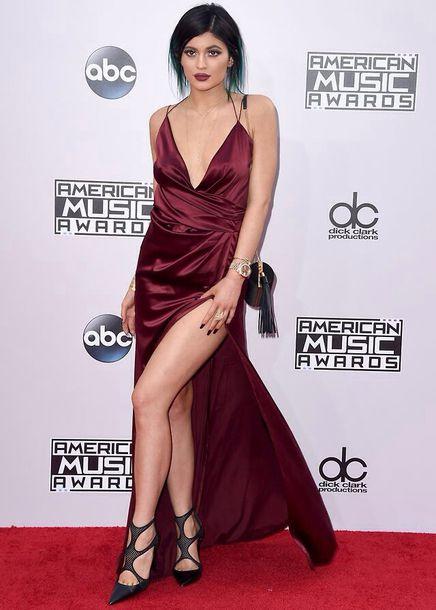 Kylie Jenner, Kardashians, Red Dress, Dress, Red, Velvet