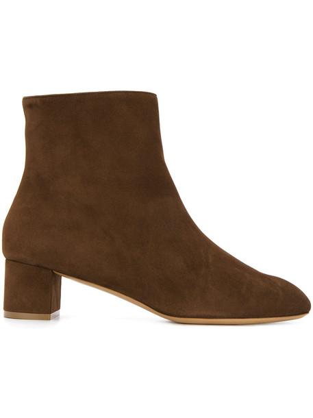 Mansur Gavriel women ankle boots leather brown shoes