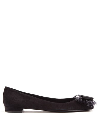 bow ballet flats ballet flats suede black shoes