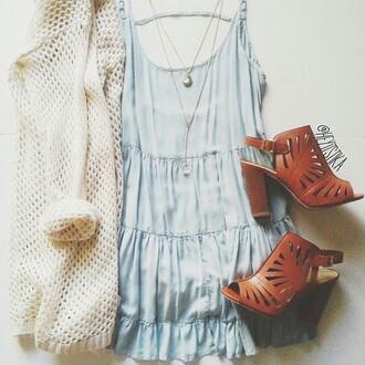 dress denim dress shoes cardigan