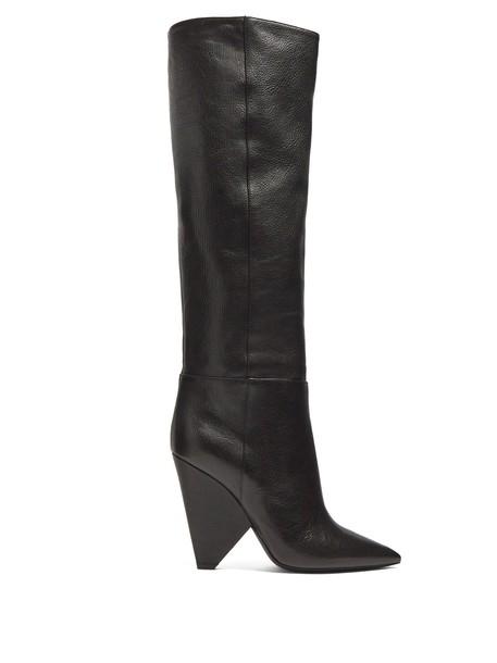 Saint Laurent leather boots leather black shoes