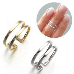 Thin 2 Lines Top of Finger Over The MIDI Tip Finger Above The Knuckle Open Ring | eBay